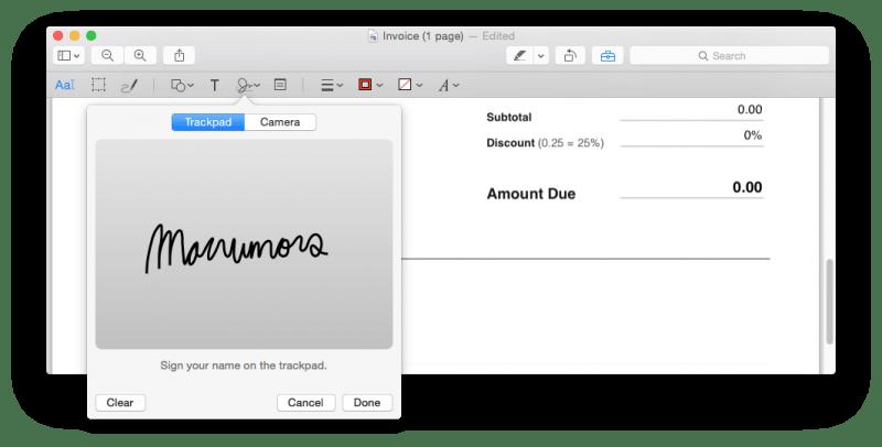 MacRumors PDF Signature