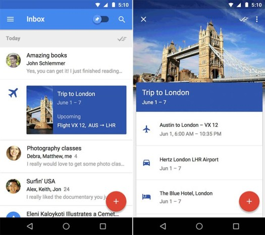 Inbox by Gmail TripBundles