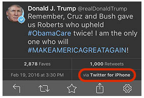 Donald Trump Calls for Apple Boycott While Tweeting With ...