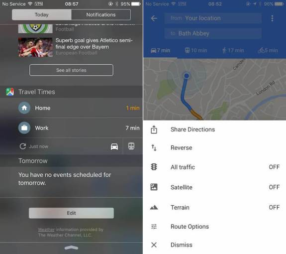 Google Maps App Gains Travel Times Widget and Direction Sharing     Google Maps App Gains Travel Times Widget and Direction Sharing   Mac Rumors
