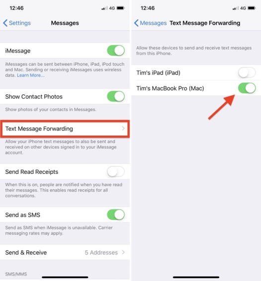 How to Send and Receive SMS Messages on iPad and Mac via