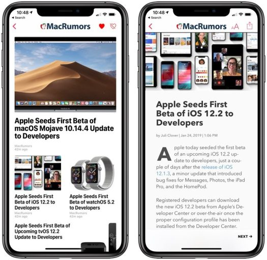 Apple Releases Second Developer Beta of iOS 12 2