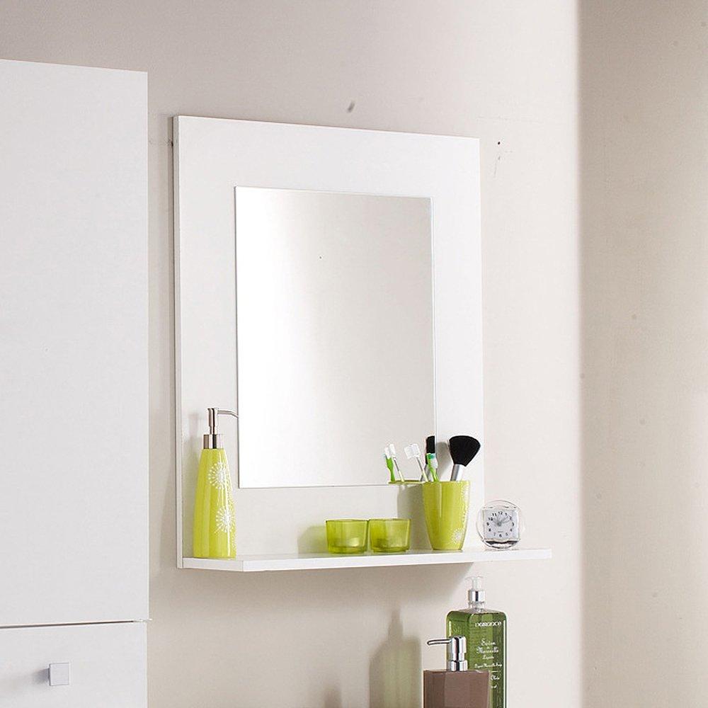 Miroir Avec Tablette Blanche 61x19x71 Cm Maison Et Styles