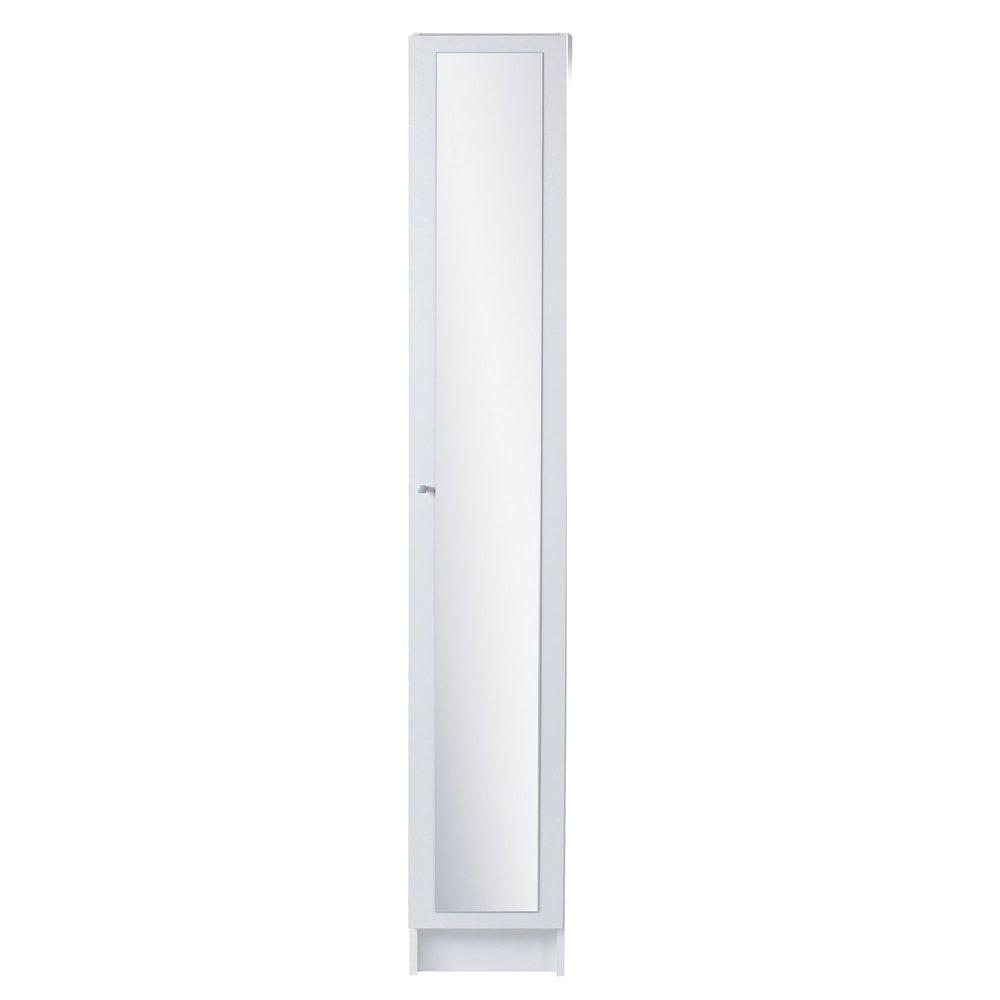 colonne de salle de bain avec miroir l30xh185xp31cm blanc