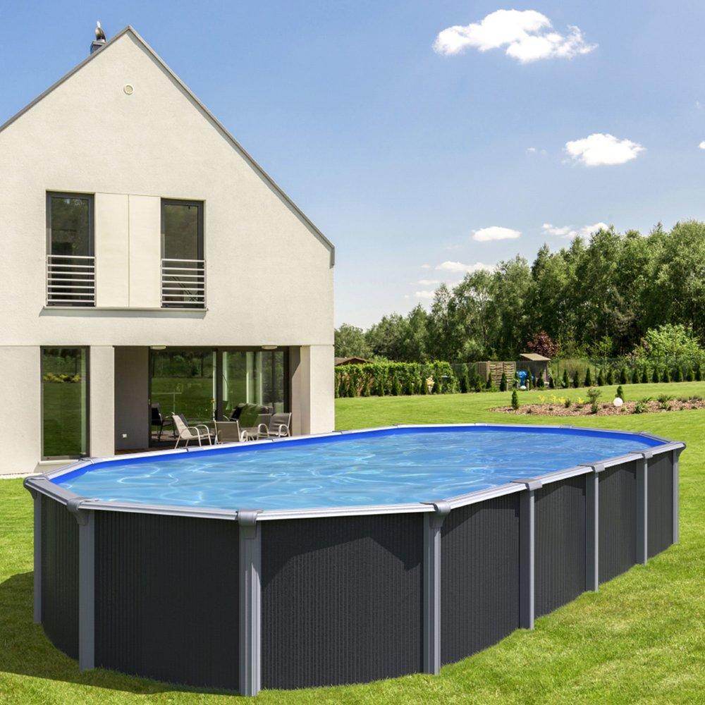 piscine hors sol acier 7 60 x 3 95m anthracite osmose