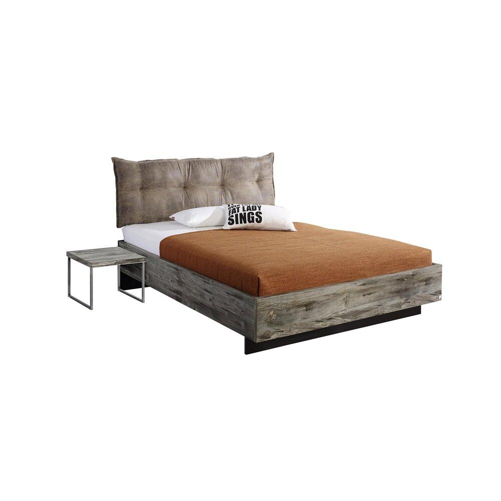 lit 2 personnes 160x200 cm avec un chevet chicago