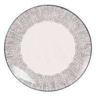 Assiette plate en faïence blanche à pois Mekong