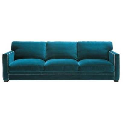 Canapé 4/5 places en velours bleu