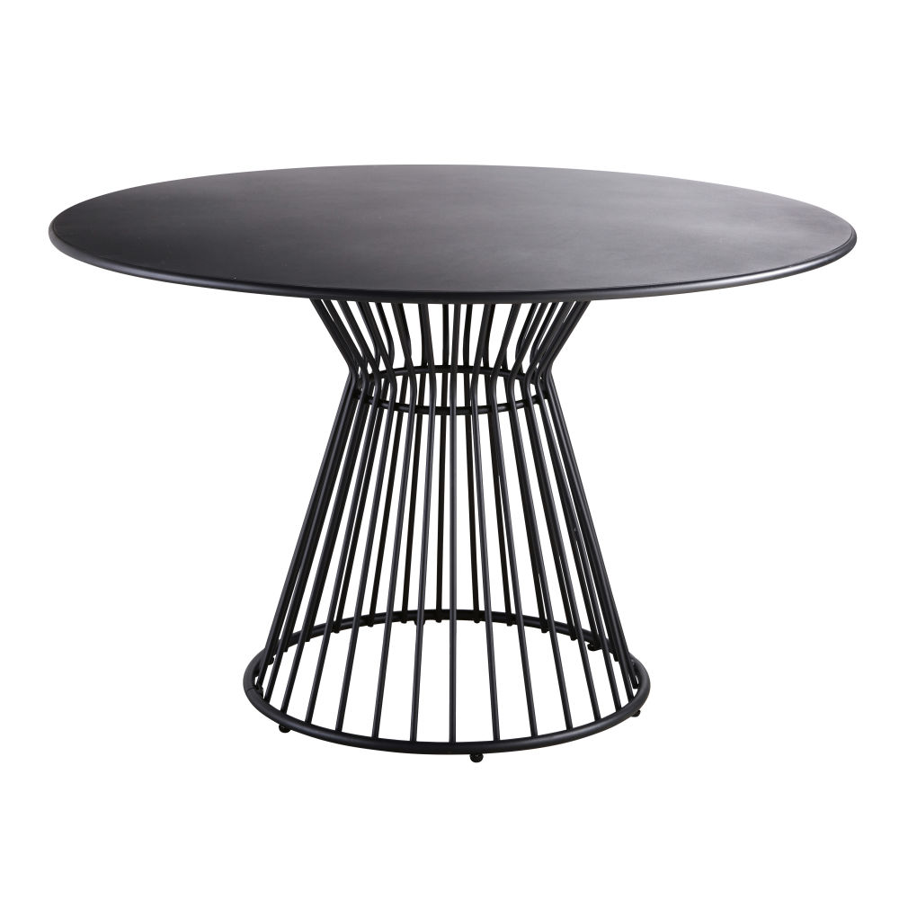 table jardin rond metal