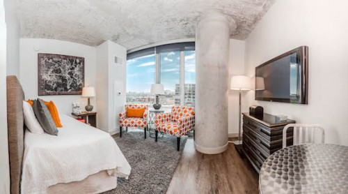 The Interior Of A Gateway West Loop Micro Apartment In Chicago Illinois