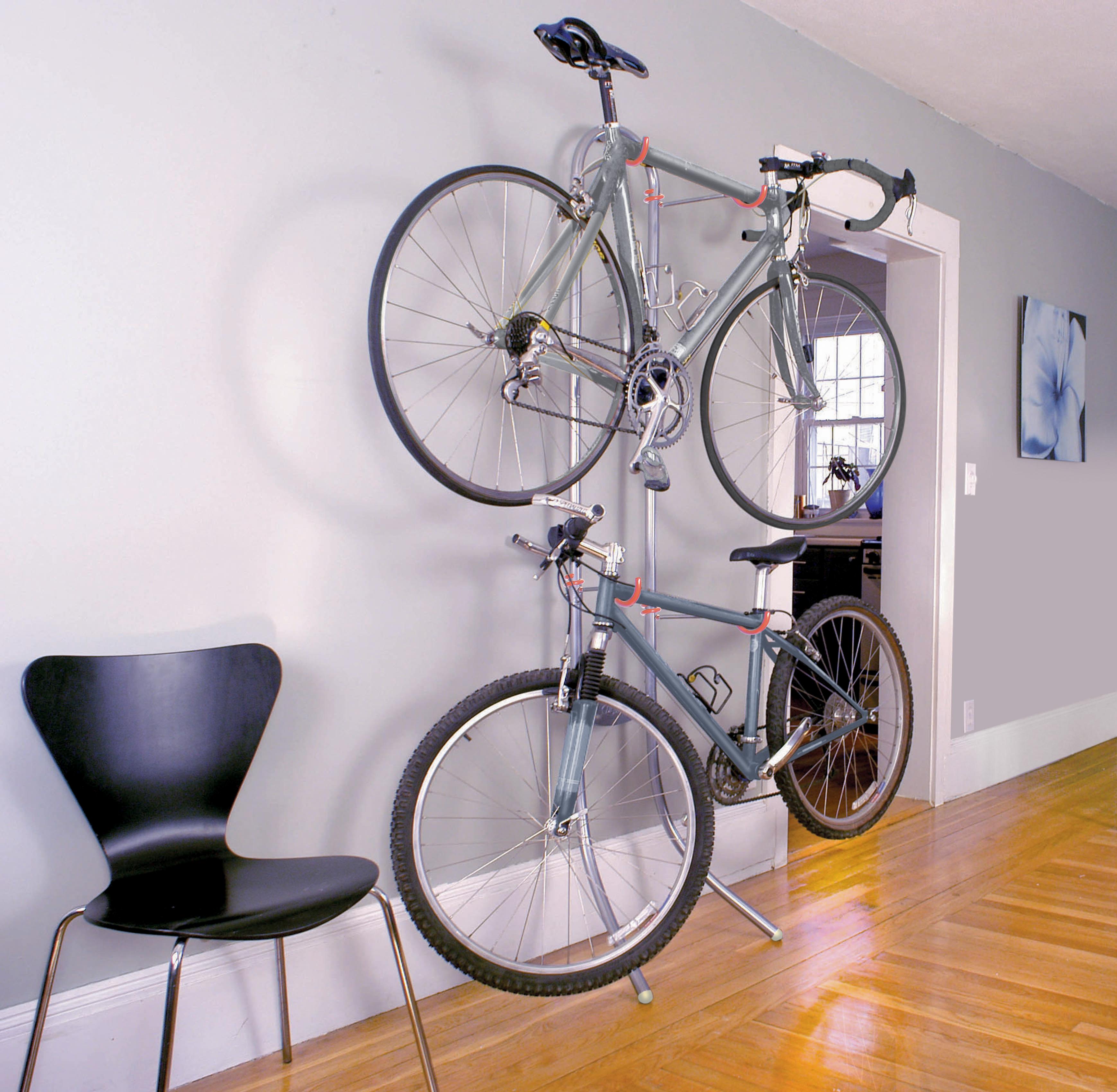 space saving bike rack