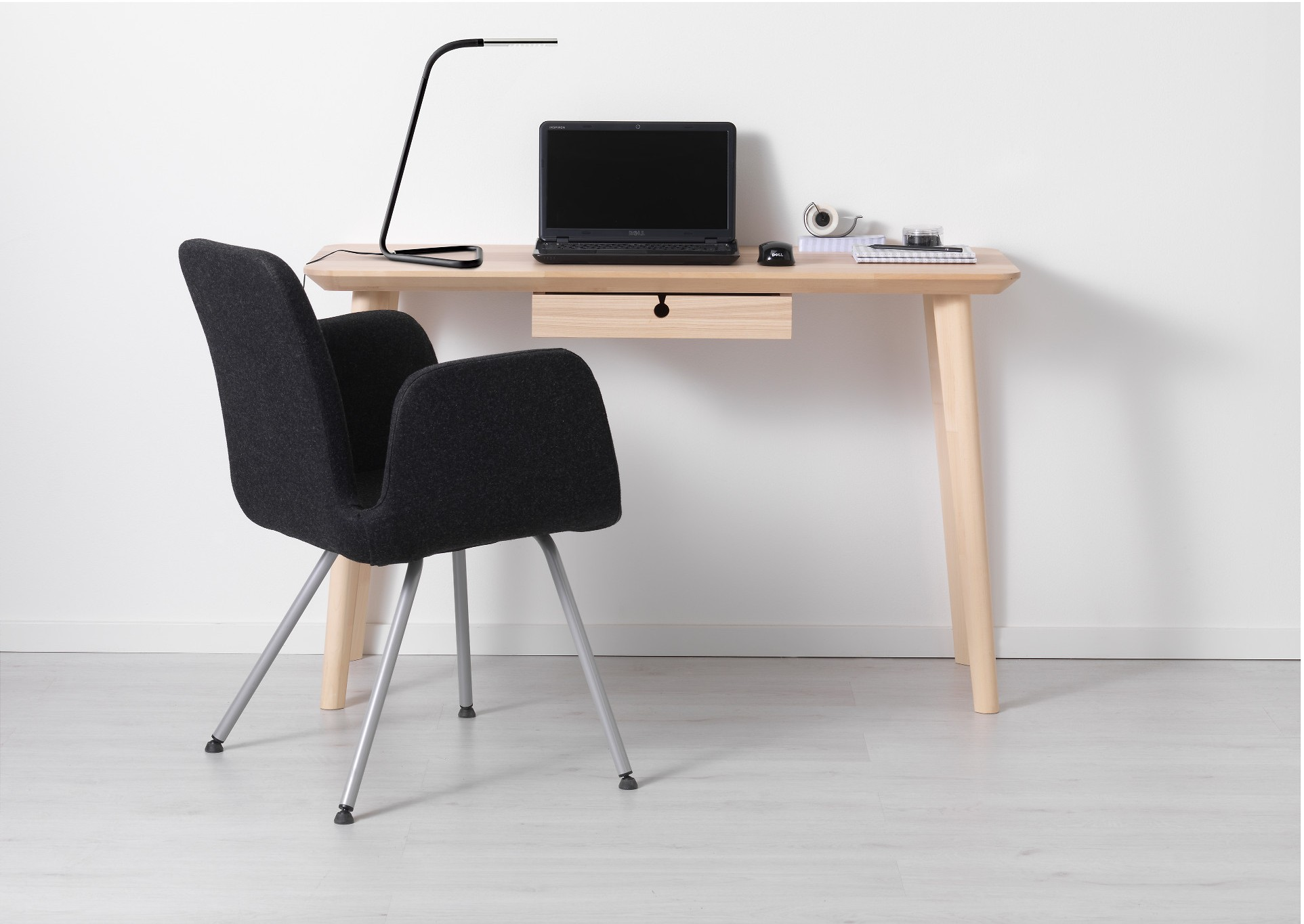 Ikea Lisabo Desk Small Apartment Elbow Room