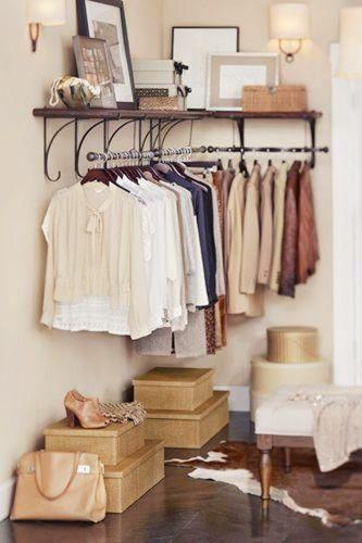 clothes rack bedroom storage hack