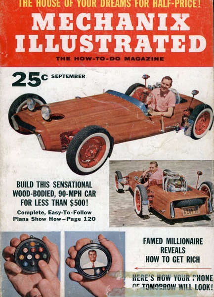 Marvelous Plans To Build A Sports Car Out Of Wood From Mechanix Illustrated 1956 U201cHOW  Would You Like To Own This Snazzy Looking Mahogany Paneled Sports Car?