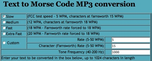 Morse code - text to MP3 and learn morse code! LISTEN DECODE