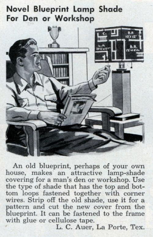 Blueprint lamp shade | Make: