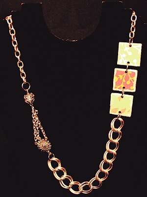 Papercollage Necklace