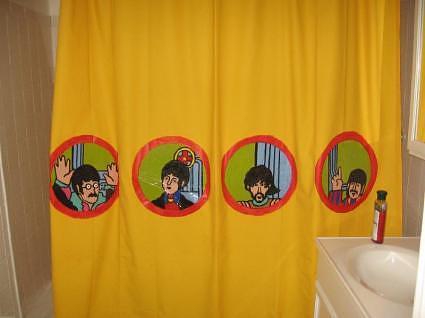 yellow submarine shower curtain make