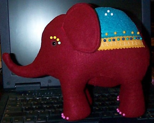 elephant pincushion