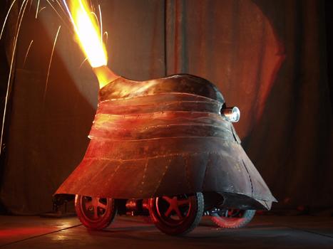 firey robot