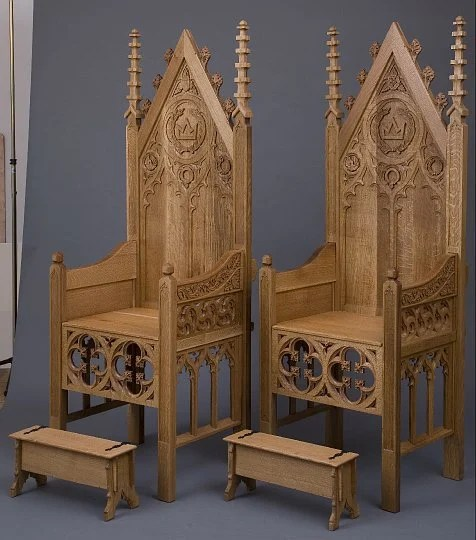gothChairs1.jpg & Hand-carved Gothic chairs | Make: