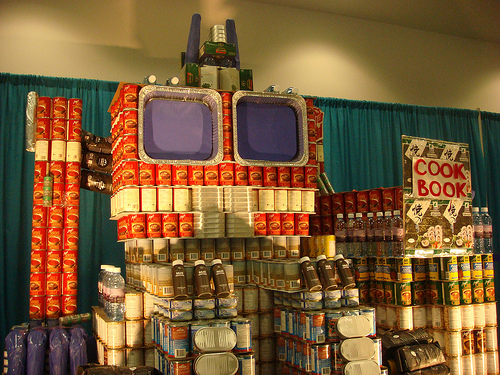 optimus prime in cans