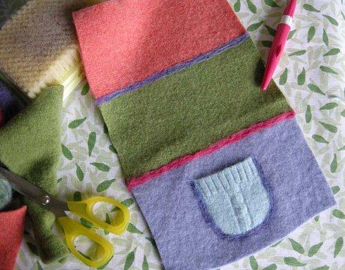 felted wool scarf