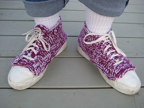 knitted high tops
