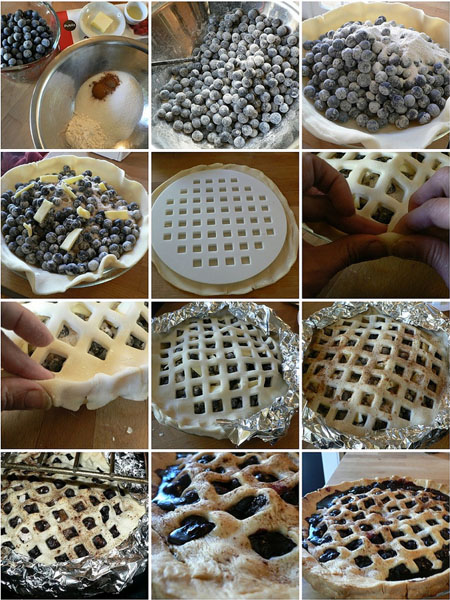 dabbled blueberry pie