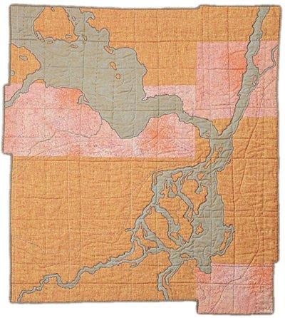 Map quilts by leah evans make label free posts about the work of textile artist leah evans who creates hand stitched map inspired quilts that encompass a variety of techniques gumiabroncs Image collections