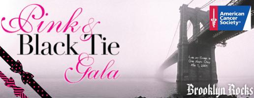 pink and black tie gala