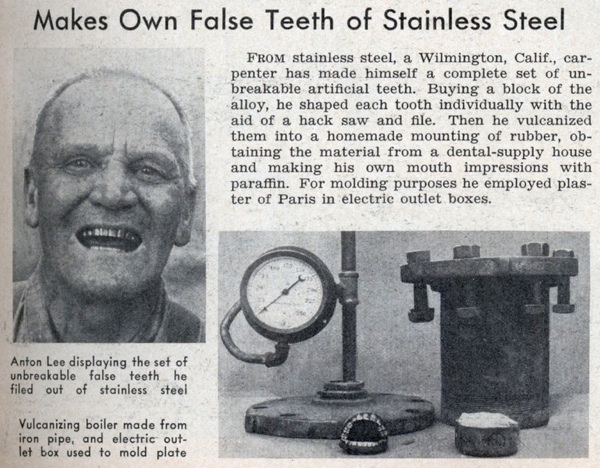Lrg Man Makes Fake Teeth
