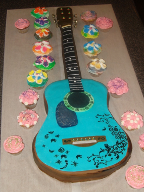 Groovy Guitar Shaped Birthday Cake Make Funny Birthday Cards Online Barepcheapnameinfo
