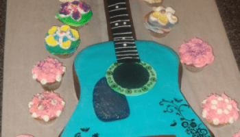 Tremendous Guitar Shaped Birthday Cake Make Funny Birthday Cards Online Barepcheapnameinfo