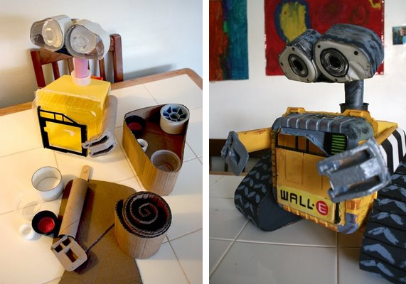 wall e robot made from recycled materials make