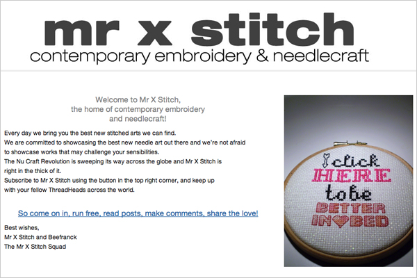 Subversive Finds With Julie Jackson Talking With Mr X Stitch Make