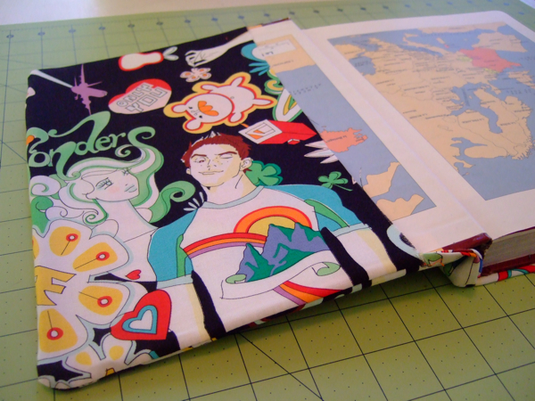 Easy Fabric Book Cover Patterns : How to sew a simple fabric book cover make