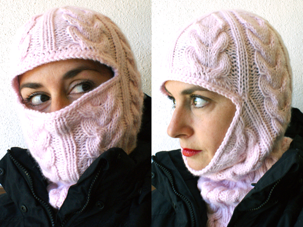 From Russia With Love Cabled Balaclava Make