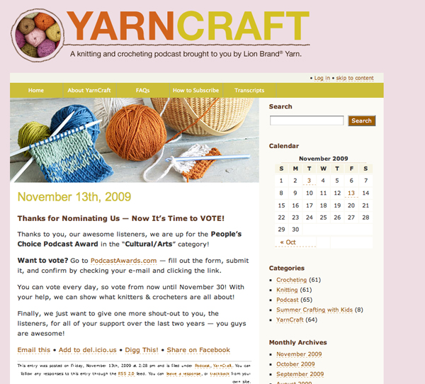 Yarncraft Podcastaward