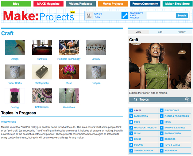 Makeprojects Craftsection