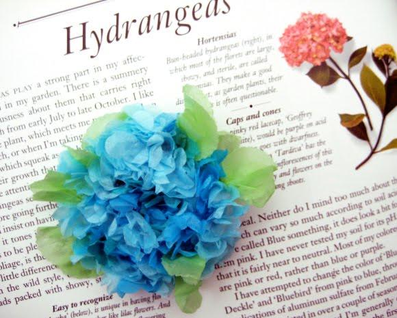 How to tissue paper hydrangea pins make tissuepaperhydrangeasg mightylinksfo