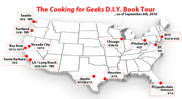Cooking for Geeks Book Tour