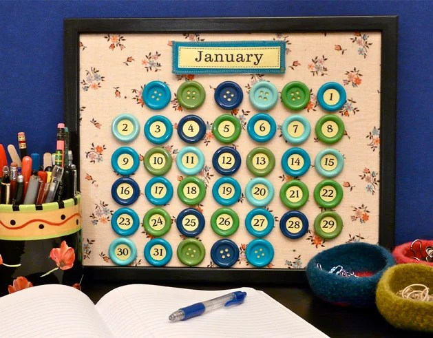 how to make a perpetual button calendar for 2011 and beyond make