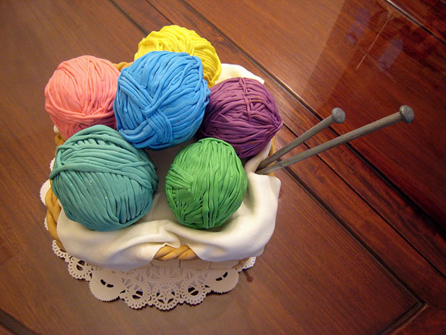 Yarn Basket Birthday Cake 1