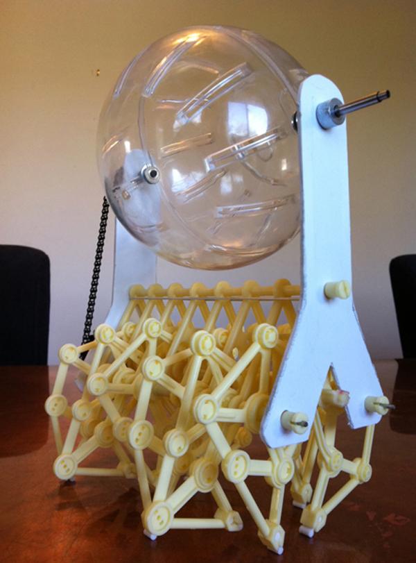 Crabfu's rodent-powered Jansen walker   Make: