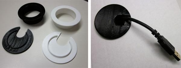 3D Printed Desk Grommet