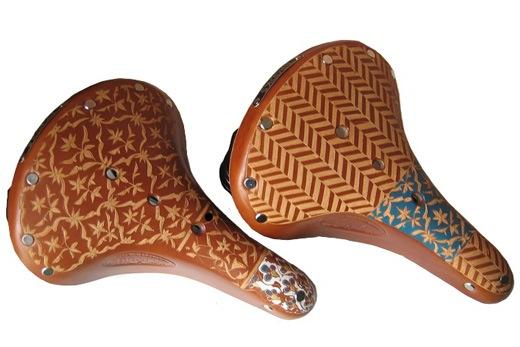 Carved Leather Bike Saddles