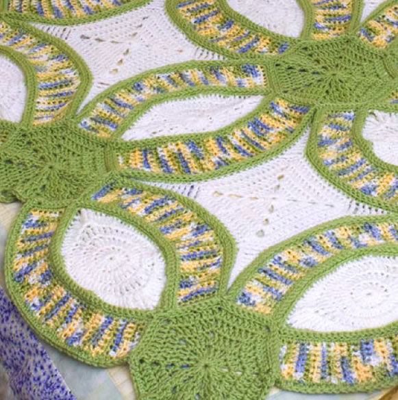 How To Crochet Version Of The Double Wedding Ring Quilt Make