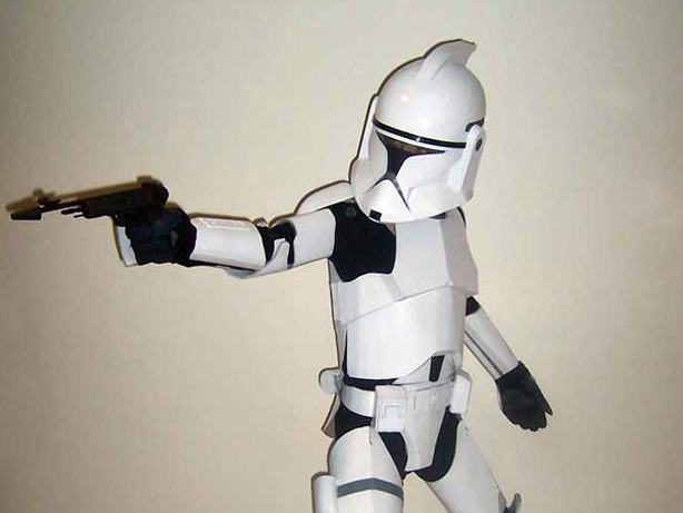 Cardboard Clone Trooper | Make: