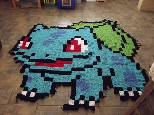 Pokemon Bulbasaur Afghan Make